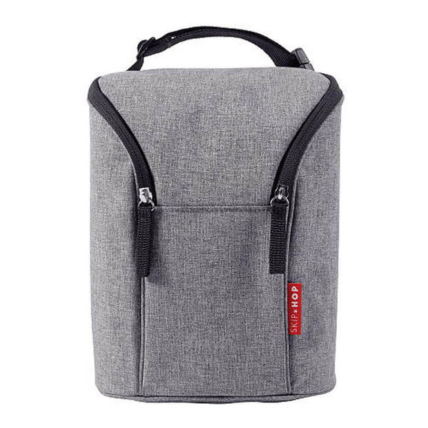 Skip Hop Grab and Go Double Bottle Bag Heather Grey - nini & loli