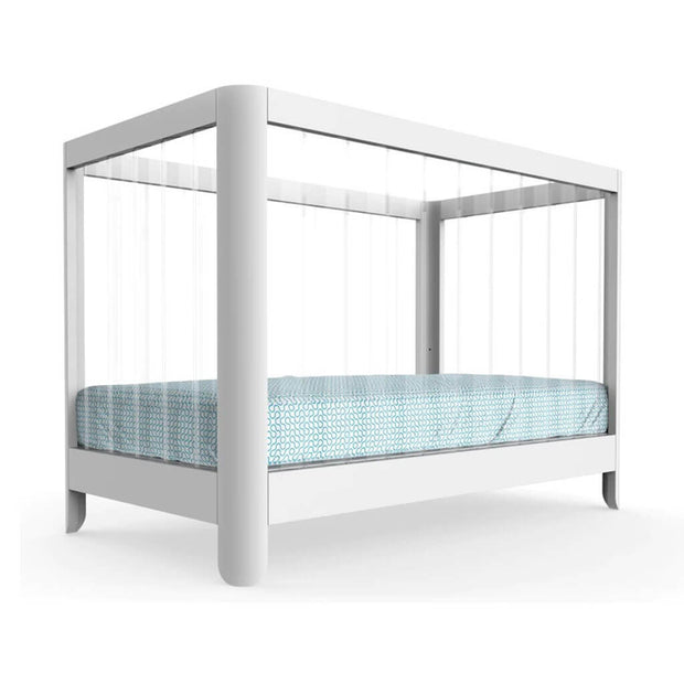 Spot on Square Reverie Crib White with Clear Acrylic - nini & loli