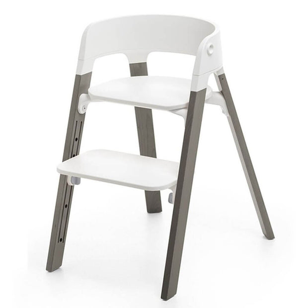 Stokke Steps High Chair White/Hazy Grey - nini & loli