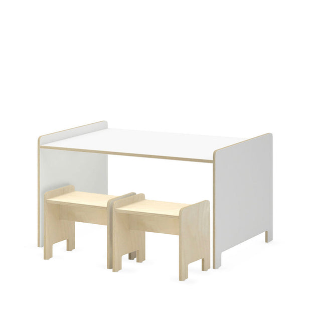White | Studio Duc Juno Play Table and Playstool Set White | NINI and LOLI
