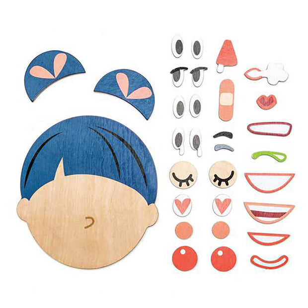 Tender Leaf Toys What's Up Wooden Face Playset