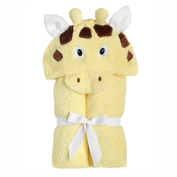Yikes Twins Hooded Towel Giraffe - nini & loli