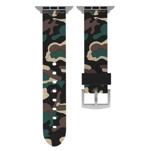 Camouflage Apple Watch Band Benefico Black yellow 42mm or 44mm