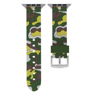 Camouflage Apple Watch Band Benefico Green yellow 42mm or 44mm