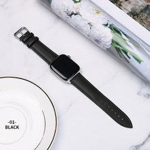 Load image into Gallery viewer, Casual Leather Apple Watch Band Apple Watch Band Benefico black 38mm or 40mm