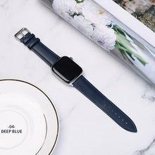 Load image into Gallery viewer, Casual Leather Apple Watch Band Apple Watch Band Benefico dark blue 38mm or 40mm