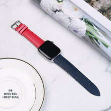 Load image into Gallery viewer, Casual Leather Apple Watch Band Apple Watch Band Benefico dark blue powder 38mm or 40mm