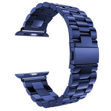 Load image into Gallery viewer, Metal Apple Watch Band Apple Watch Band Benefico Blue 42mm or 44mm