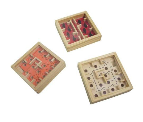 3 Wood Labyrinth Puzzles