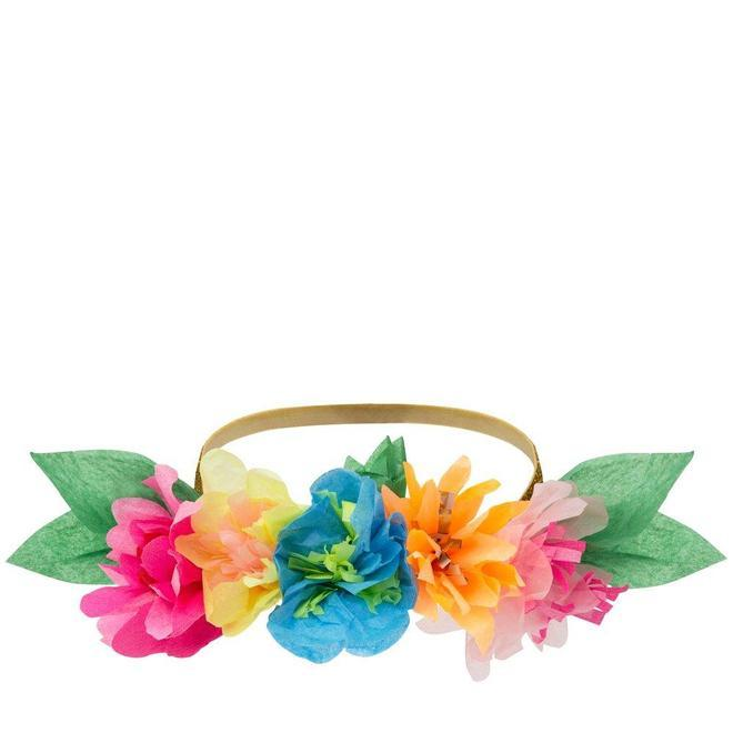6 Floral Party Crowns