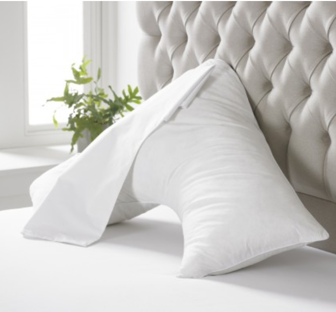 The V Shaped Duck Feather Support Pillow - Sleep Wonderful