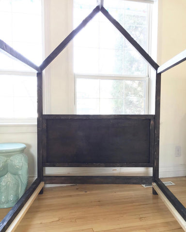 House Bed Frame - Twin w/ solid Head and Footboard