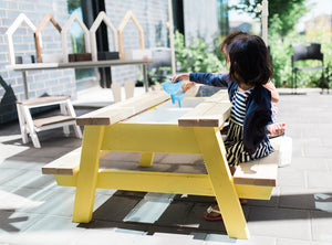 2 Bin Small Picnic Sensory Table