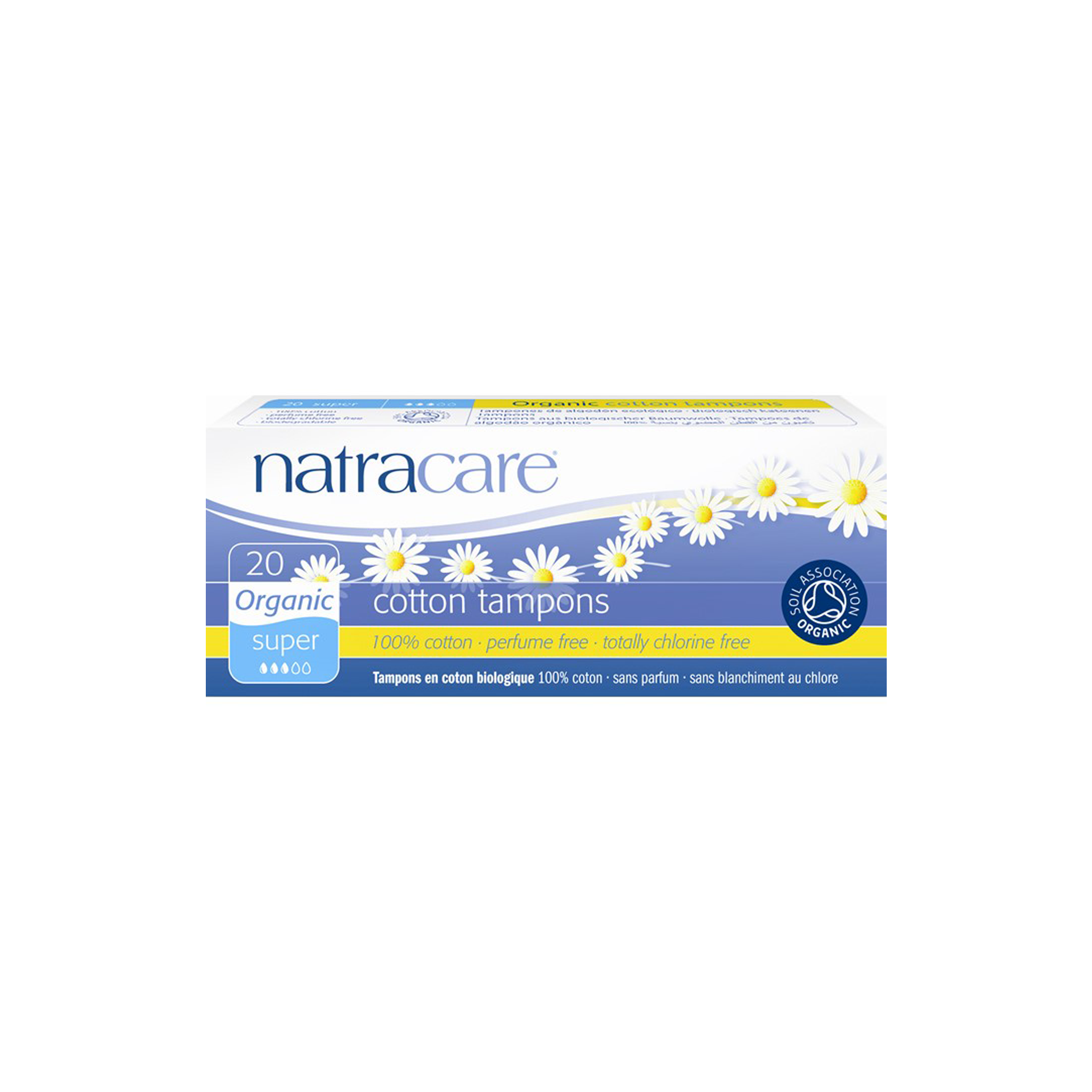 Natracare 100% Organic Cotton Tampons Super