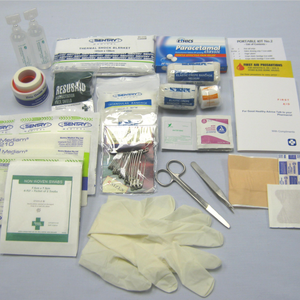 Portable Travel First Aid Kit - Contents Only