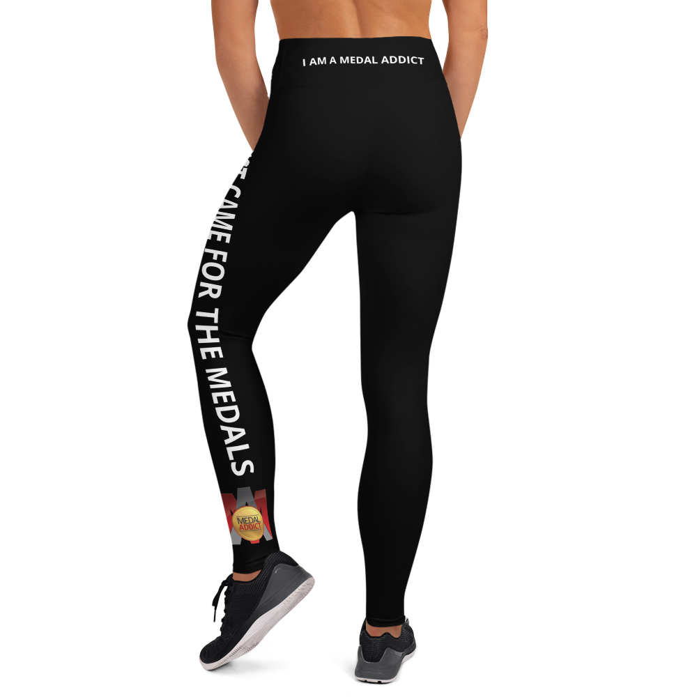I Just Came For The Medals (BW) Yoga Leggings