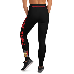 I Just Came For The Medals (Red) Yoga Leggings
