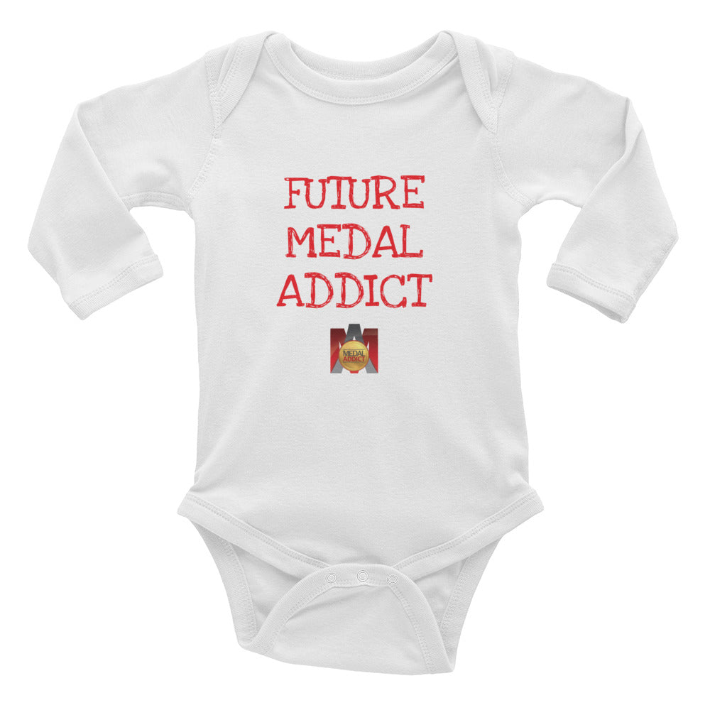 Future Medal Addict Infant Long Sleeve Bodysuit