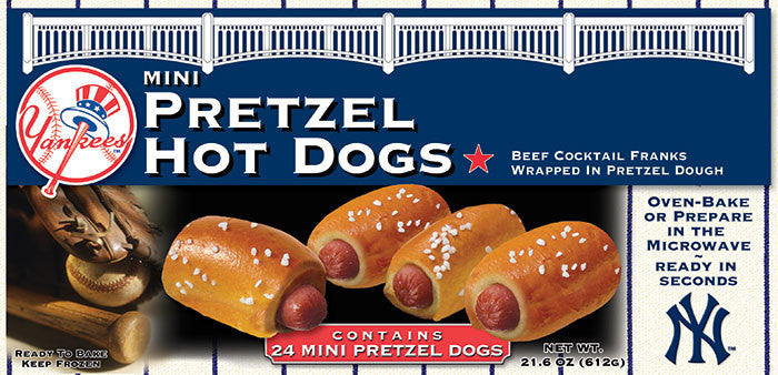 Ny Yankees Mini Pretzel Hot Dogs 24 Count Nyyankeesfoods2