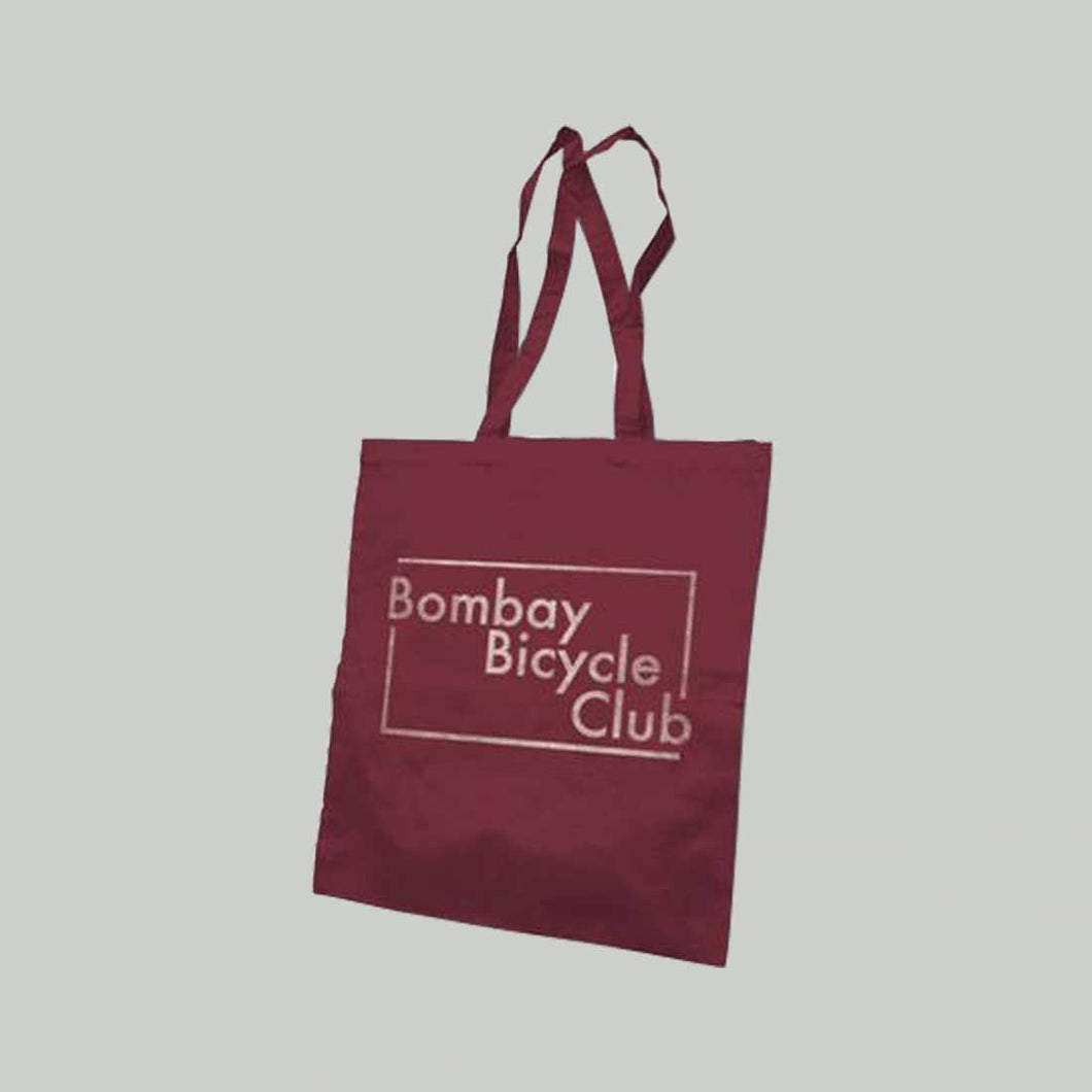 BURGUNDY LOGO TOTE BAG
