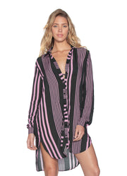 Maaji Lavanda Serenity Long Shirt Beach Cover Up