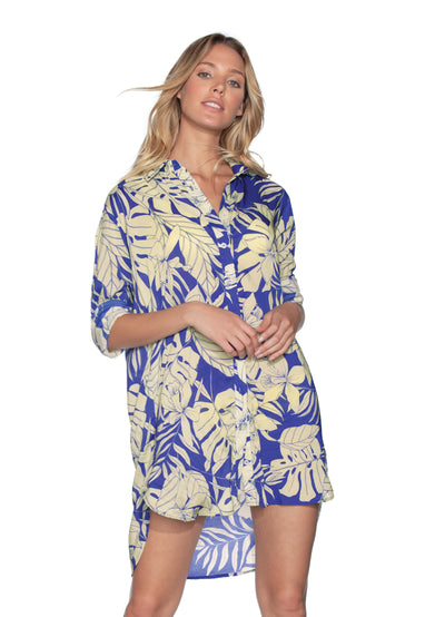 Maaji Serene Breeze Long Shirt Beach Cover Up