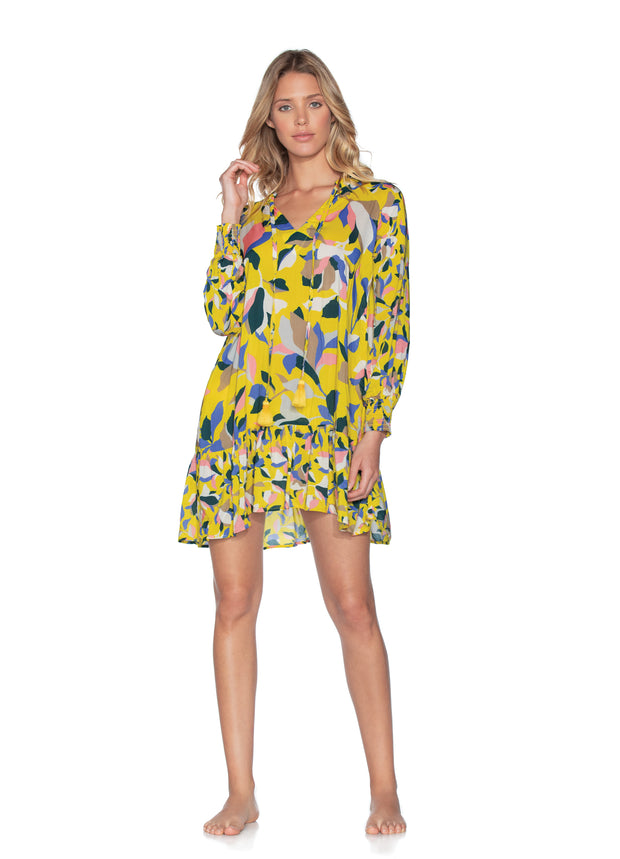 Maaji Yellow Sky Ahead Tunic Beach Cover Up