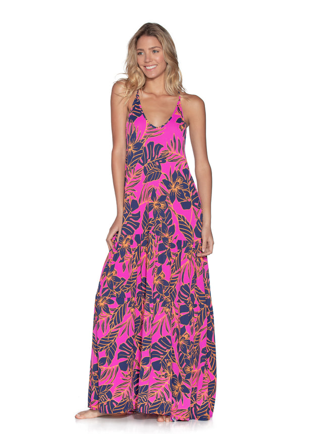 Maaji Aloha Dreams Long Beach Dress Cover Up