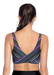 Maaji Twist Stripe Pacific 4 Way Medium Impact Sports Bra