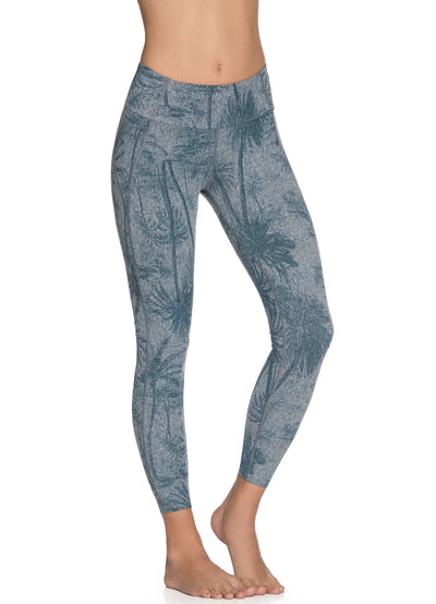 Maaji Dazeful Palm Pewter Mid Rise 7/8Th Legging