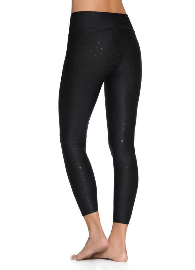 Maaji Dazeful Sunburst Black Mid Rise 7/8Th Legging