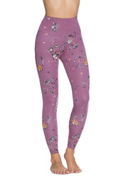 Maaji Double Dream Wildflowers Iris Reversible High Rise Full Legging