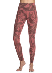 Maaji Double Dream Petal Amaranth Reversible High Rise Full Legging
