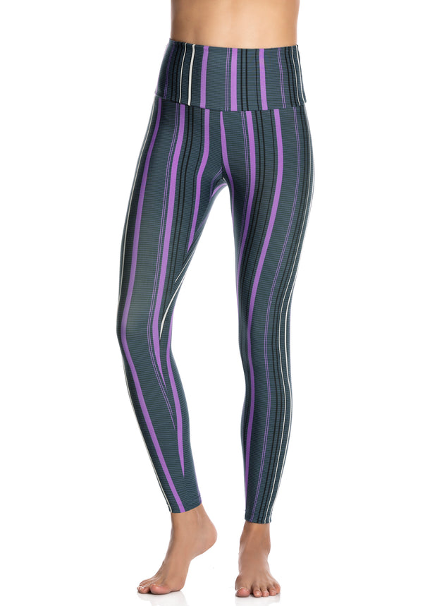 Maaji Double Dream Stripe Pacific Reversible High Rise Full Legging