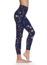 Maaji Native Moonflower Indigo Reversible High Rise 7/8Th Legging