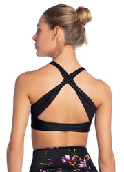 Maaji Mirage Sunburst Black High Impact Sports Bra
