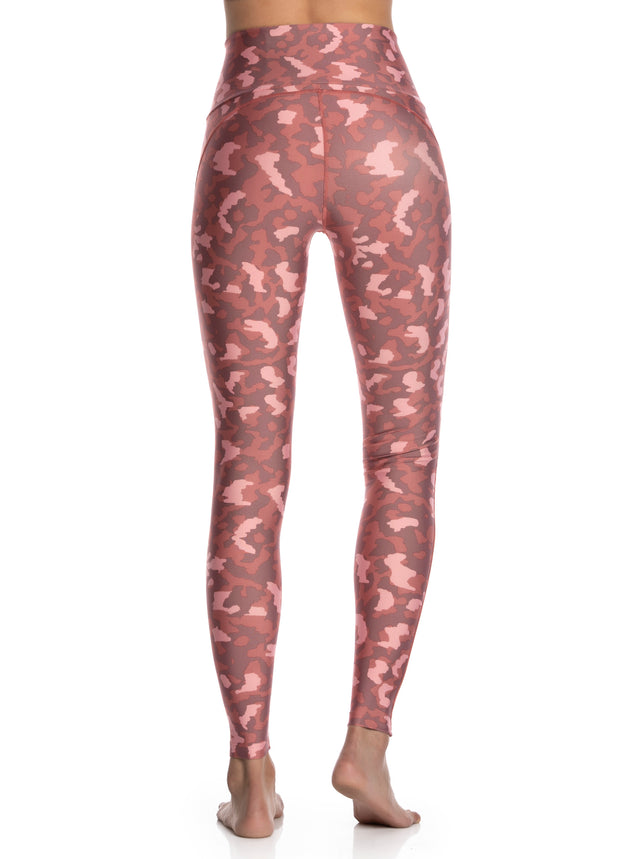 Maaji Dazeful High Cheetah Rosewood High Rise Full Legging