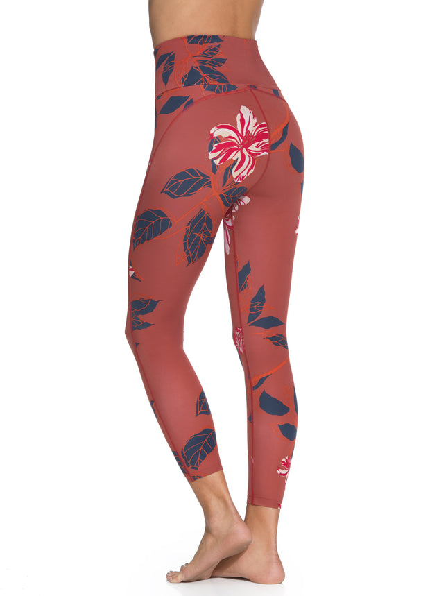 Maaji Dazeful High Tullip Garnet High Rise 7/8Th Legging