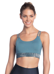 Maaji Bound Palm Pewter 4 Way Reversible Medium Impact Sports Bra