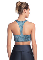 Maaji Whispering Odyssey Aegean Reversible Low Impact Sports Bra W/ Removable Cups