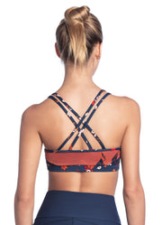 Maaji Mist Wildflowers Indigo Low Impact Sports Bra