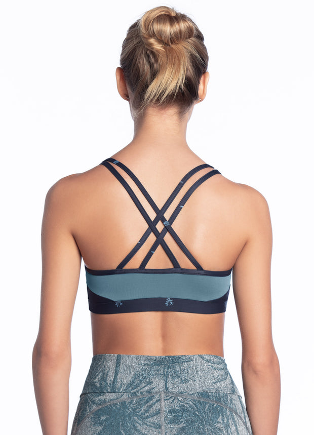Maaji Mist Aster Prussian Low Impact Sports Bra