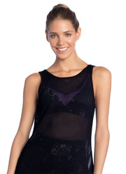 Maaji Relay Black  Mesh Tank Top