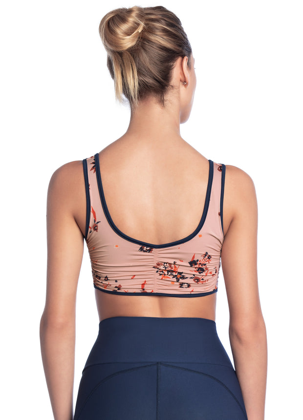 Maaji Lush Wildflowers Peach Reversible Low Impact Sports Bra