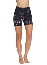 "Maaji Heat Wildflowers Black High Rise 5"" Short"