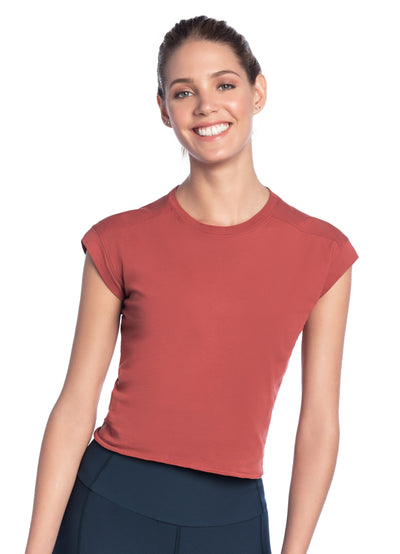 Maaji Dawn Garnet Short Sleeve Top
