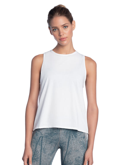 Maaji Gleam White Tank Top