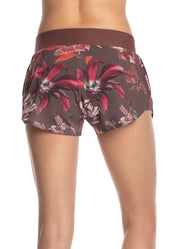 Maaji Rave Flora Amaranth Short With Brief Liner