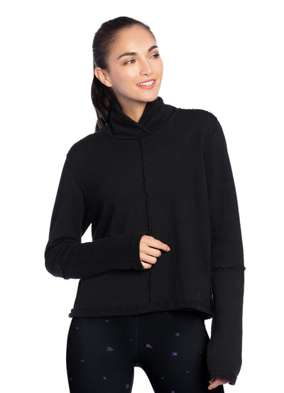 Maaji Warmth Black Funnel Neck Sweatshirt