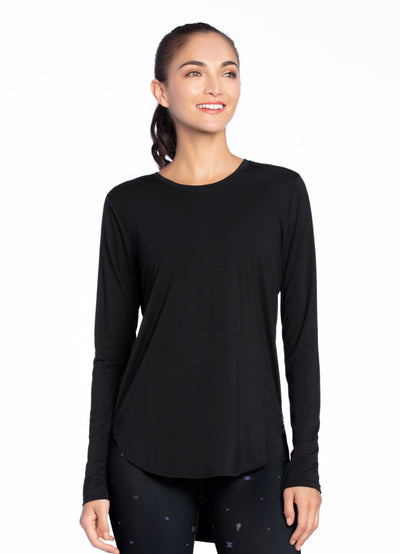 Maaji Pure Black Long Sleeve Top
